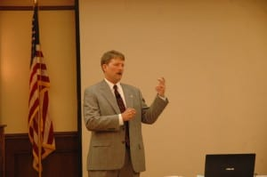 Wisconsin Speaker Tom Fuszard delivering a 2014 Presentation