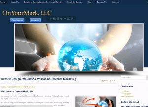 OnYourMark, LLC Home Page Image