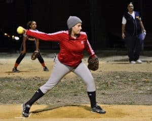 "photo of softball pitcher winding up for a fastball for FastPitch Networking - aka ""Business Speed Dating"" - image by Steven Pisano at Flickr, Speed Networking 2020"